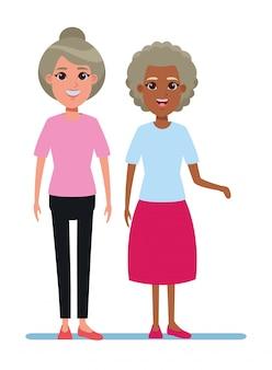 Oudere mensen avatar stripfiguur