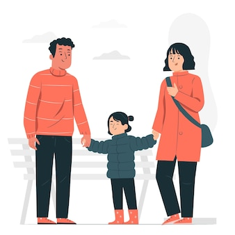 Ouders concept illustratie