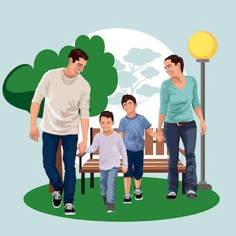 Ouders met hun zonen