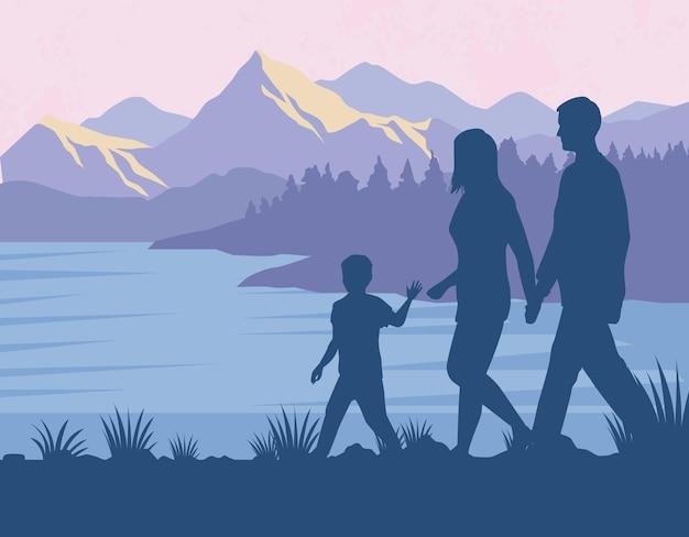 Ouders met zoon