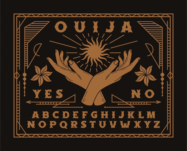 Ouija bord illustratie