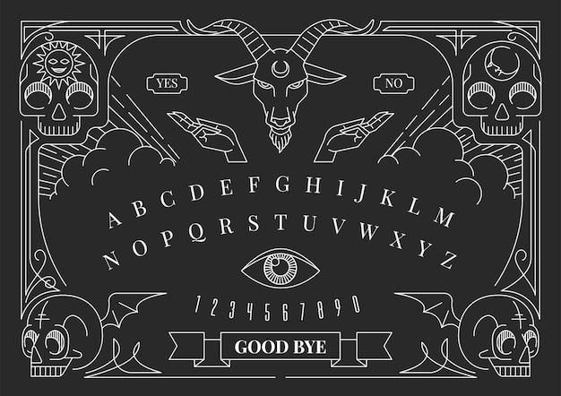 Ouija bord illustratie