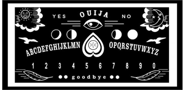 Ouija bord monoline design