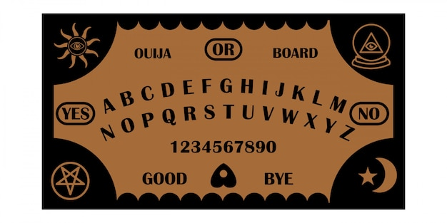 Ouija bord monoline ontwerp
