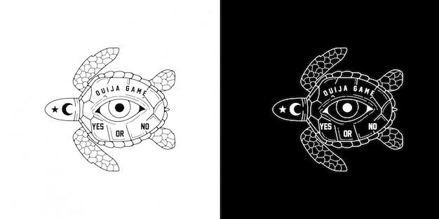 Ouija game monoline design
