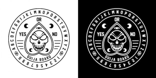 Ouija monoline badge design