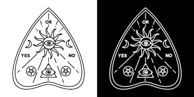 Ouija monoline badge ontwerp