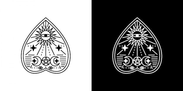 Ouija monoline bord