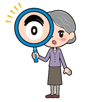 Out line purple draag oma_lens
