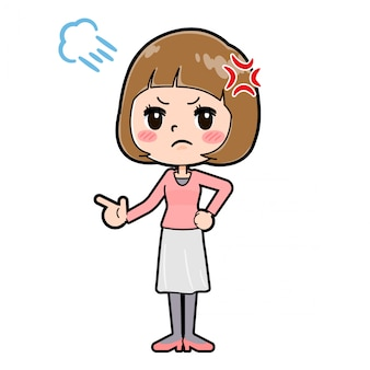 Out line roze kleding vrouwen woede