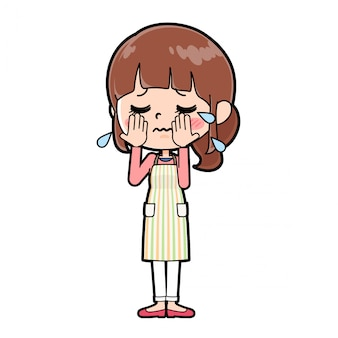 Out line schort moeder huilen
