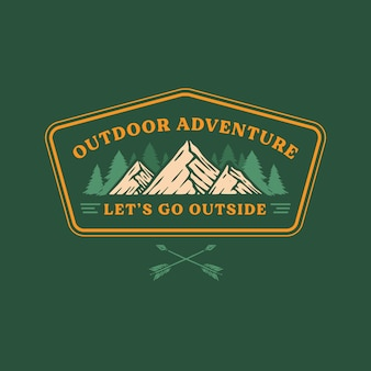 Outdoor badge