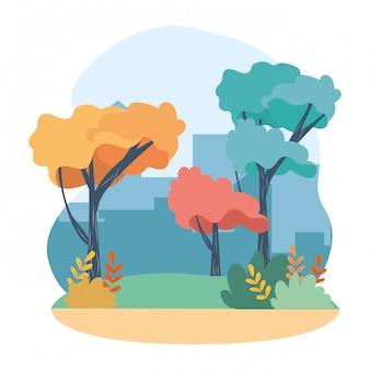 Outdoor concept cartoon