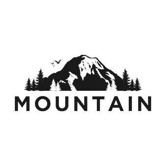 Outdoor rotsachtige berg natuur logo