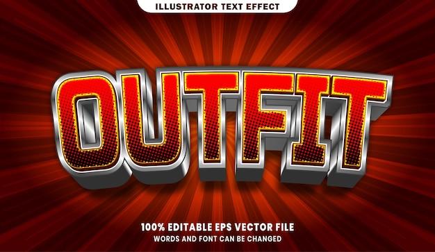 Outfit 3d bewerkbaar tekststijleffect