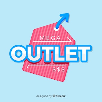 Outlet achtergrond