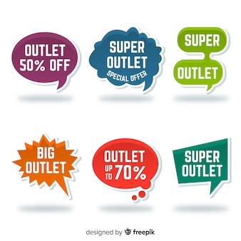 Outlet-labelverzameling