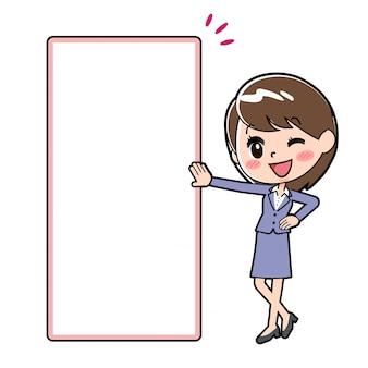 Outline zakenvrouw