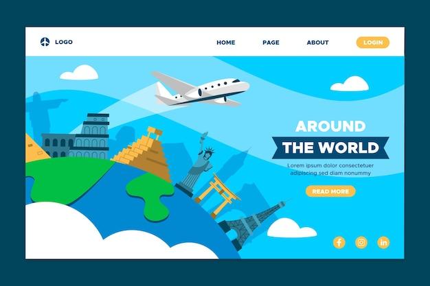 Over de hele wereld bestemmingspagina