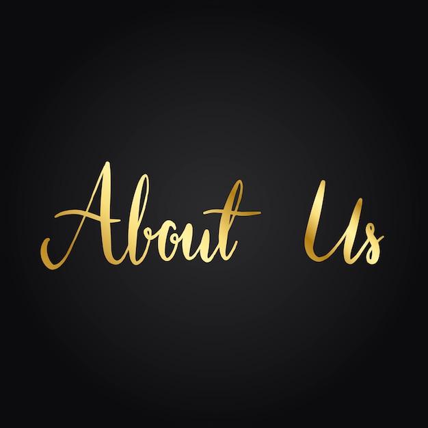 Over ons typografie stijl vector
