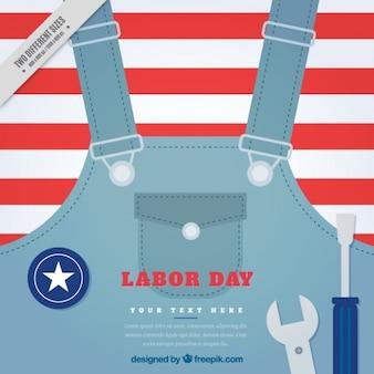 Overall met schroevendraaier en moersleutel voor labor day