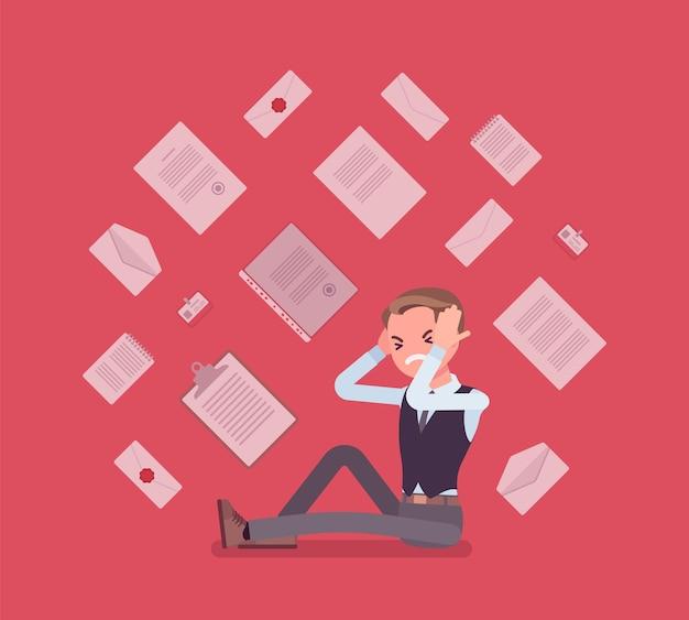 Overbelasting van kantoorpersoneel en papierwerk