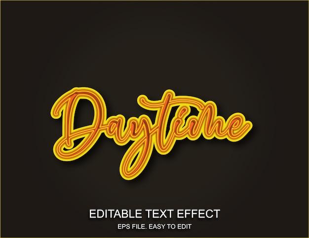 Overdag teksteffect