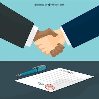 Overeenkomst handdruk