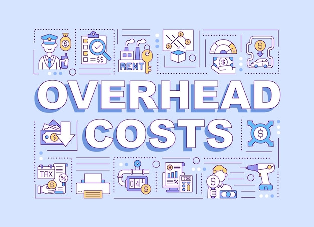 Overheadkosten woord concepten illustratie