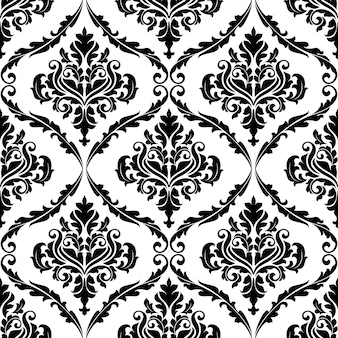 Overladen bloemen arabesque decoratief naadloos patroon