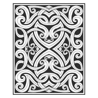 Overladen ornament gesneden illustratie