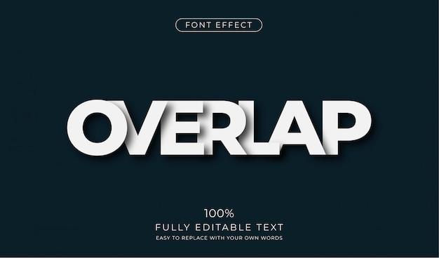 Overlappend teksteffect. bewerkbare tekenstijl