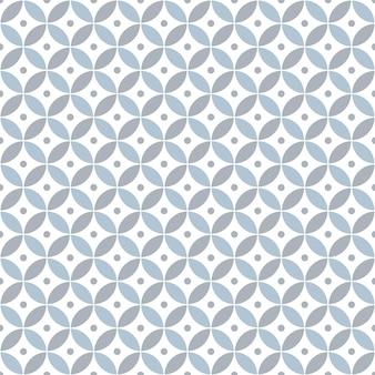 Overlappende cirkels en polka dot. geometrische naadloze patroon.
