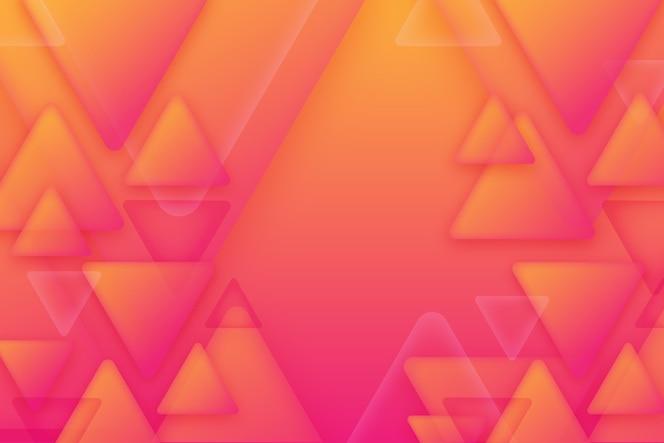 Overlappende driehoeken achtergrondontwerp