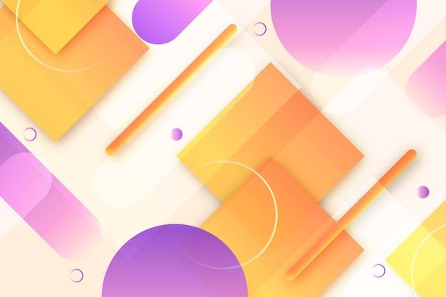 Overlappende geometrische stippen en vierkanten achtergrond
