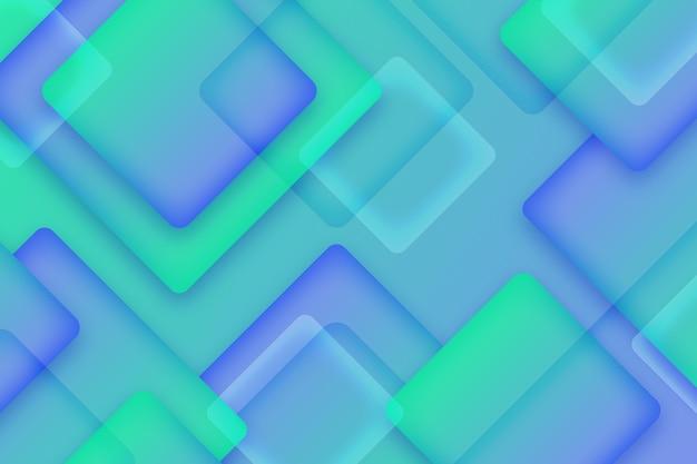 Overlappende vierkanten achtergrondontwerp
