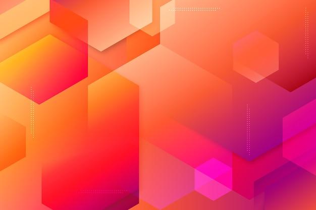 Overlappende vormen achtergrond en bokeh-effect