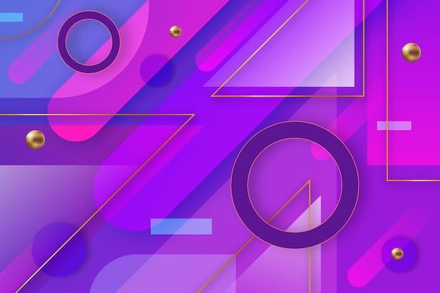 Overlappende vormen achtergrond Gratis Vector