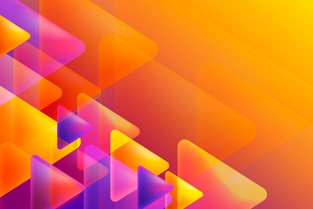 Overlappende vormen achtergrondontwerp Gratis Vector