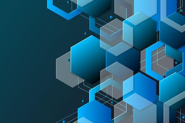 Overlappende vormen behang concept Gratis Vector