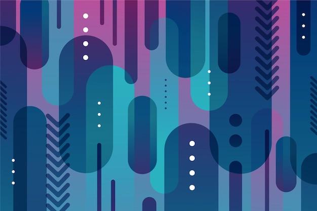 Overlappende vormen behang met vormen