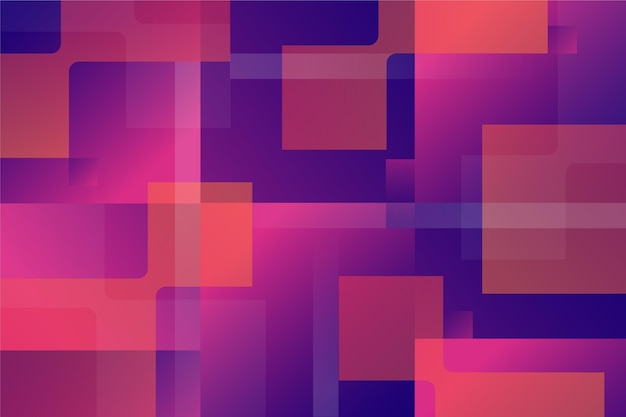 Overlappende vormen behang