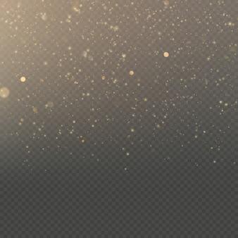 Overlay effect glitter goud licht glans effect op transparante achtergrond.