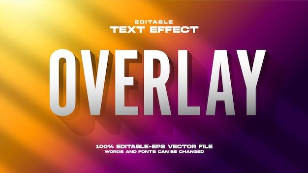 Overlay-teksteffect met kleurovergang