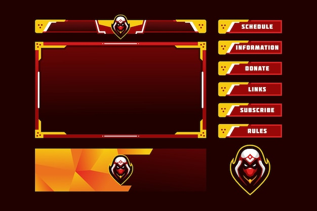 Overlay van het assassin gaming-paneel