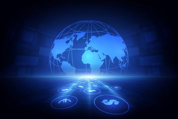 Overschrijving. wereldwijde valuta. beurs. voorraad.