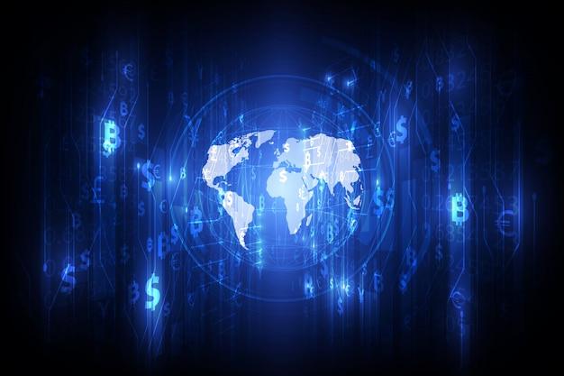 Overschrijving. wereldwijde valuta