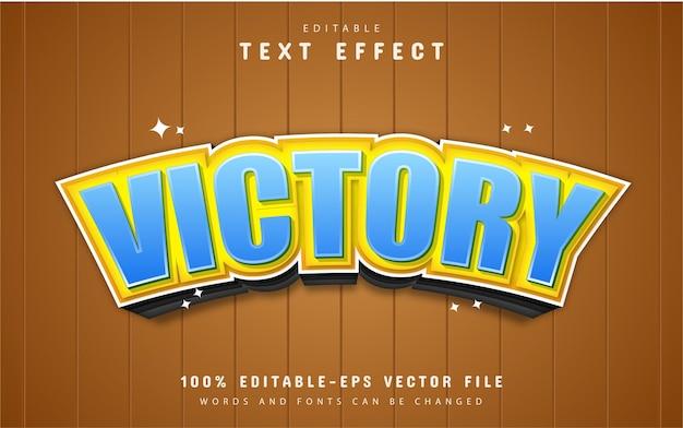 Overwinning teksteffect