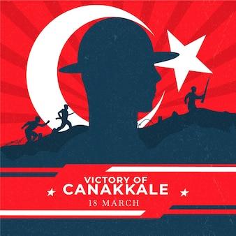 Overwinning van canakkale illustratie