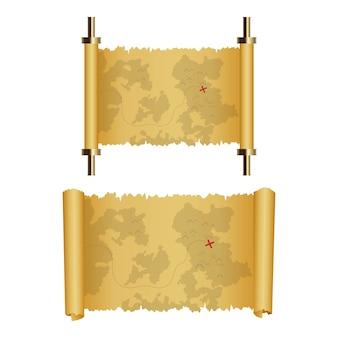 Overzeese piraatvoorwerpen geplaatst die illustratie op witte achtergrond wordt geïsoleerd